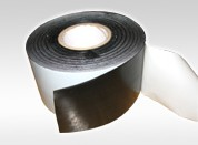 Three Ply Polyethylene Pipe Coating Tape Black And Gray Adhesive