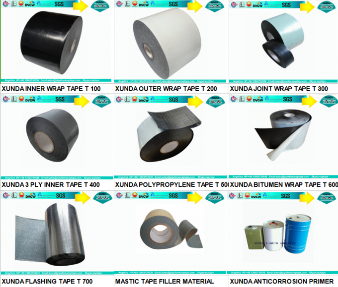 Aluminum foil butyl rubber tape for building , waterproof pipe tape black gray sliver color