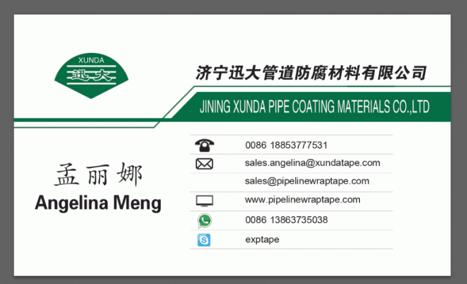 Field Joints Coating Polymer Tape Standard Iso 21809-3 Small Water Absorption