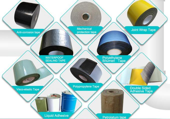 Polyethylene And Butyl Rubber Based Anti Corrosion Wrapping Tape 30 - 300m Length