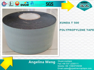 Woven Polypropylene Fiber Woven Tape With Butyl Rubber Bitumen Adhesive Layer