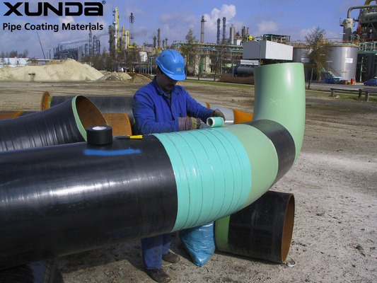 China Blue / green Visco elastic pipeline coating , anti corrosive tape and paste for flange supplier