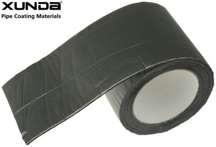 China Aluminum foil butyl rubber tape for building , waterproof pipe tape black gray sliver color supplier