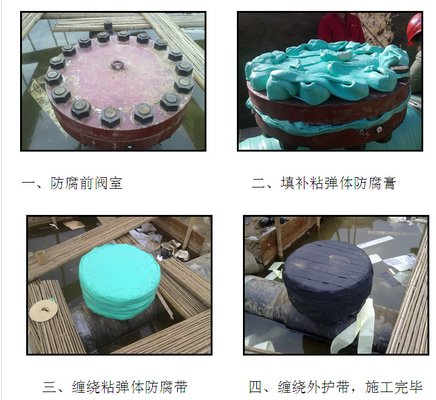 China Green Color Flanges Viscoelastic Coating supplier