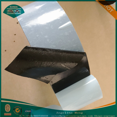 China Three Ply Polyethylene Pipe Coating Tape Black And Gray Adhesive supplier