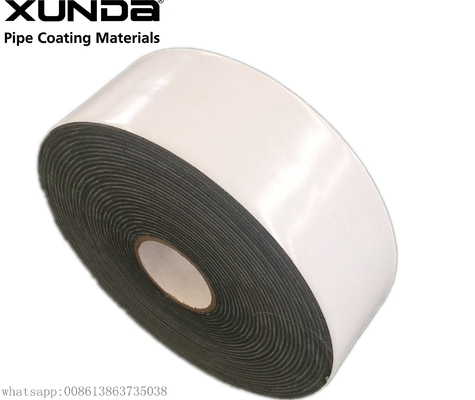 Black Or White Color External Anti Corrosion Tape For Gas Water Oil Underground Pipeline