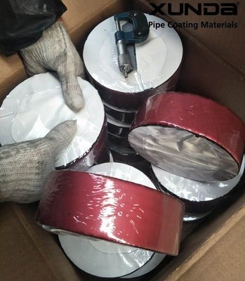 Deep red color aluminium foil butyl rubber waterproof sealing tape