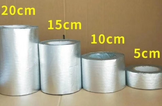 China Moisture Resistant Waterproof Flashing Tape Self Adhesive Aluminium Butyl Tape supplier