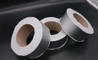 Flashing Butyl Rubber Adhesive Tape , Aluminum Butyl Tape 50 Mm Width