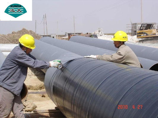 Black Pipe Insulation Tape with Polyethylene Backing , Oil Gas Pipeline Tape Rust Prevention