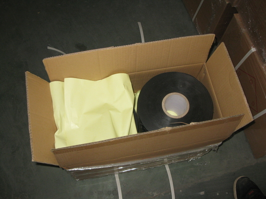 Adhesive PVC Pipe Wrapping Tape / Pipe Insulation Wrap Tape Anti Rust and Water Resistance
