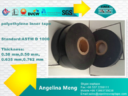 White Black Oil And Gas Pipe Insulation Tape Polyethylene Backing Rubber Adhesive