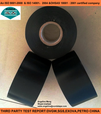 China Steel Pipes Coating Materials Pipe Coating Tape , Polyethylene Metal Protective Coating Tape factory