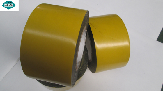 China Yellow PE Coated Butyl Adhesive Pipe Coating Tape for Buried Steel Pipeline factory